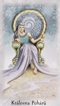 Tarot Keltskych Draku Pohary Kralovna Poharu